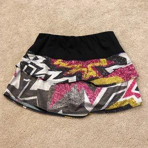 Black Patterned Tennis Skirt 🎾